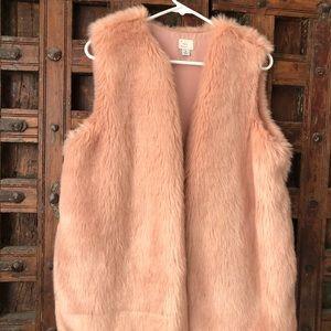 Faux Fur Pink Vest